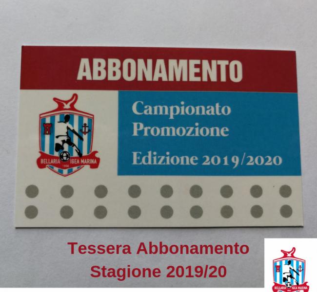 Campagna Abbonamenti 2019/20- Abbonamento